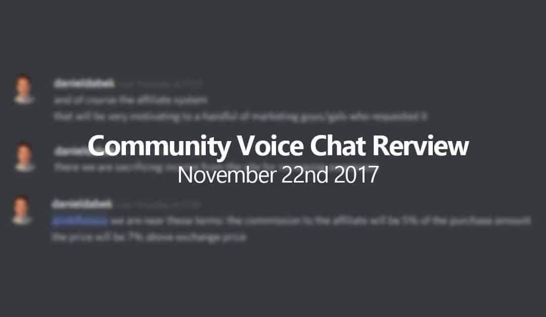 Safex Community Voice Chat Summary – Nov 22nd 2017