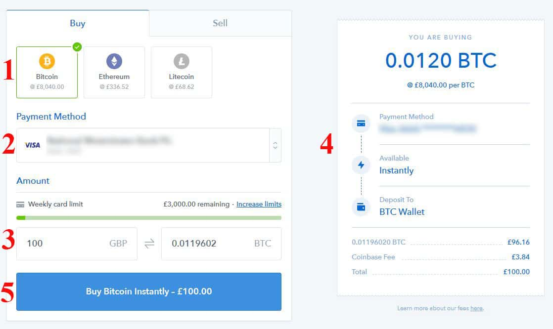 Buying Bitcoins on the Coinbase Exchange