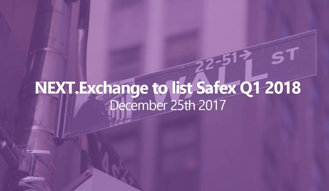 NEXT.Exchange plans to list Safex early next year