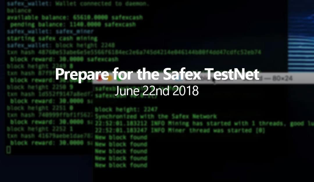 Prepare for the Safex TestNet