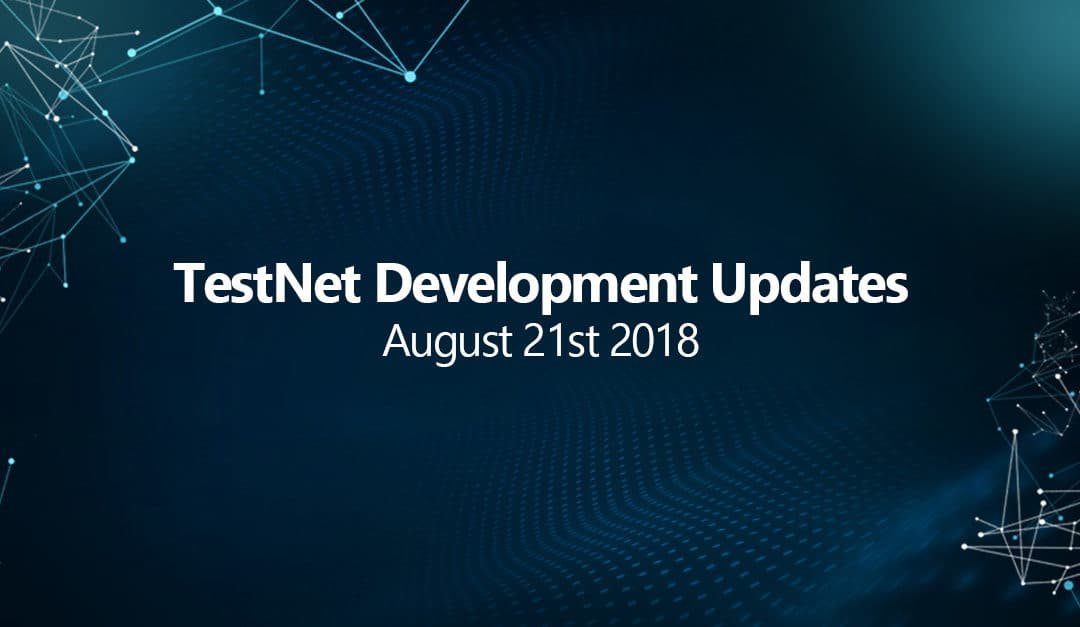 Testnet progress development update