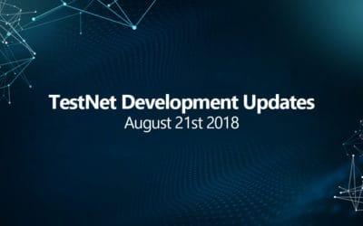 Testnet progress development update